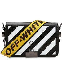 Off-White c/o Virgil Abloh - Mini Diagonal Striped Leather Bag - Lyst
