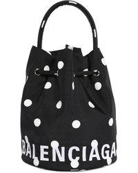 Balenciaga Wheel ナイロンバケットバッグ - ブラック