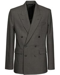 Balenciaga Двубортный Пиджак - Серый