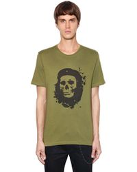 The Kooples - Skull Printed Cotton Jersey T-shirt - Lyst