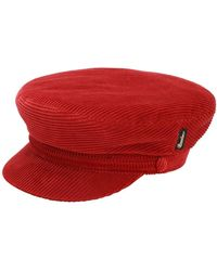 Borsalino Cotton & Cashmere Velvet Sailor Hat - Red