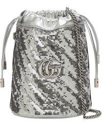 Gucci Сумка С Пайетками Mini Gg Marmont 2.0 - Многоцветный