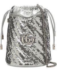 Gucci Gg Marmont 2.0 スパンコールバケットバッグ - マルチカラー