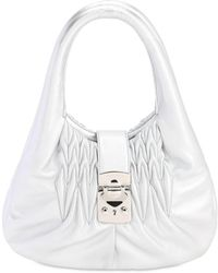 Miu Miu - Handtasche Aus Gestepptem Leder - Lyst
