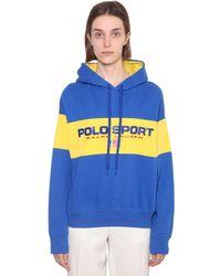 Polo Ralph Lauren コットンブレンド リラックスフィットスウェットフーディ - ブルー