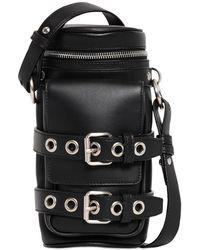 Versace Leather Crossbody Bottle Bag - Black