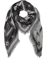 Givenchy - Printed Wool & Silk Blend Scarf - Lyst