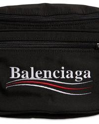 Balenciaga Gürtletasche Aus Nylon Mit Political-logo - Schwarz