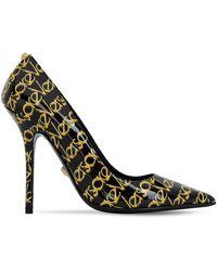 Versace Туфли Из Лаковой Кожи С Логотипом 110мм - Черный