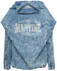Martine Rose ダブルブコットンデニムジャケット - ブルー