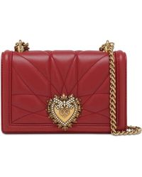 Dolce & Gabbana Кожаная Сумка Mini Devotion - Красный