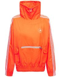 Stella McCartney オーバーサイズテックナイロンスウェットシャツ - オレンジ