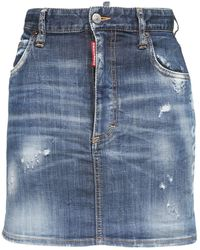 DSquared² ストレッチコットンデニムミニスカート - ブルー