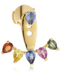 Yvonne Léon Rainbow Mono Ear Jacket Earring - Metallic
