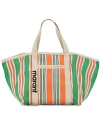 """Isabel Marant Borsa Shopping """"warden"""" In Nylon - Verde"""