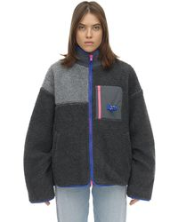 ADER error オーバーサイズエコシアリングジャケット - マルチカラー