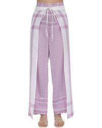 Cecilie Copenhagen - Pantalones Envolventes De Algodón - Lyst