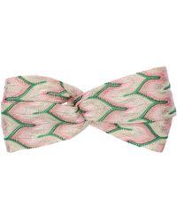 Missoni Multicolor Lamé Headband - Pink