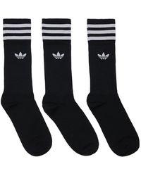adidas Originals Solid Crew Socks - Black
