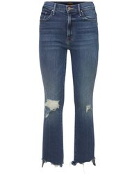 """Mother Jeans """"the Insider Crop Step Chew"""" - Blau"""