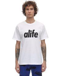 Alife Core Logo Cotton Jersey T-shirt - White