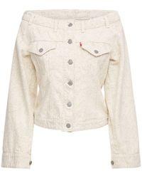 Ganni Куртка Levi's Из Денима - Белый