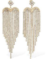 Rosantica Graffiti Crystal Chandelier Earrings - Mettallic