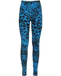 Redemption Athletix Animalier Nylon Leggings - Blue