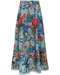 Le Sirenuse Camille コットンスカート - ブルー