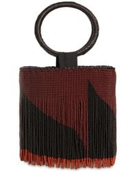 Sensi Studio Mini Bucket Bag W/ Beaded Fringes - Multicolour