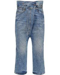 R13 Staley Crossover Cotton Denim Jeans - Blue