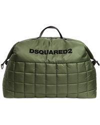 DSquared² ナイロンパフィーダッフルバッグ - グリーン