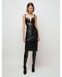 Saint Laurent Платье Из Эластичного Латекса - Черный