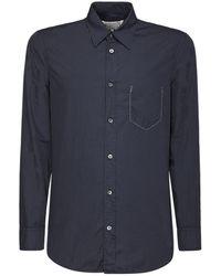 Maison Margiela コットンポプリンシャツ - ブルー