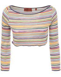 Missoni Crop Top In Maglia - Multicolore
