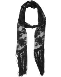 Ann Demeulemeester - Embroidered Tech Scarf - Lyst