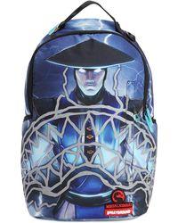 Sprayground Mortal Kombat Sharkmouth Backpack - Blau