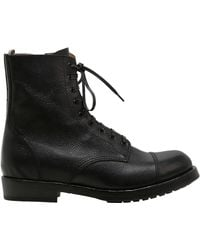 Officine Creative | Lace-up Leather Boots With Side Zip | Lyst