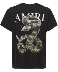 Amiri Snake ジャージーtシャツ - ブラック