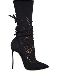 Casadei - 120mm Stretch Knit Boots - Lyst