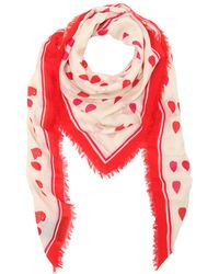 Alexander McQueen - Petals Printed Fringed Scarf - Lyst
