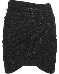 Saint Laurent Мини-юбка Из Бархата - Черный