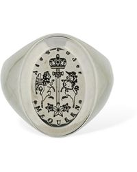 "Alexander McQueen Ovaler Ring ""emblem"" - Mettallic"