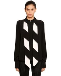 Givenchy - Ruffled Silk Crepe De Chine Blouse - Lyst