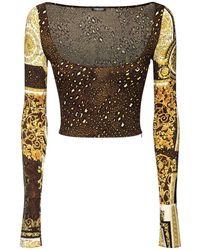 Versace Топ Из Вискозы С Принтом - Многоцветный