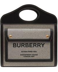 Burberry Mini Pocket キャンバス&レザートート - マルチカラー