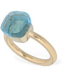 """Pomellato Blue Topaz """"nudo"""" Ring"""