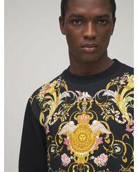 Versace Jeans Couture Свитшот Из Хлопка С Принтом - Черный
