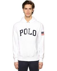 Polo Ralph Lauren Logo Techno Sweatshirt Hoodie - White