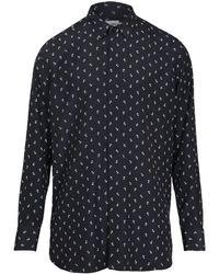 Saint Laurent - Шёлковая Рубашка С Логотипом - Lyst